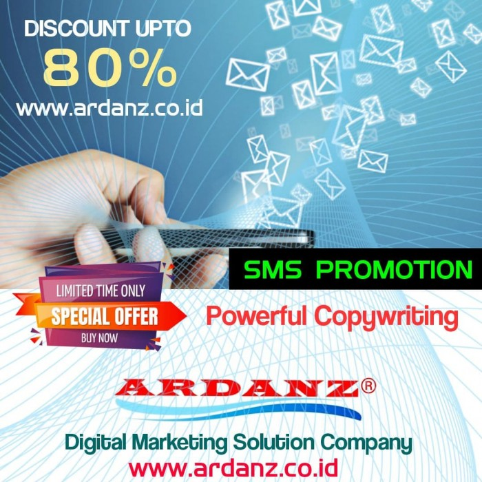 Digital Marketing Solution Paket Promosi SMS 1 Juta Nomor Telepon ( Powerful Copywriting ) Rp.210,-
