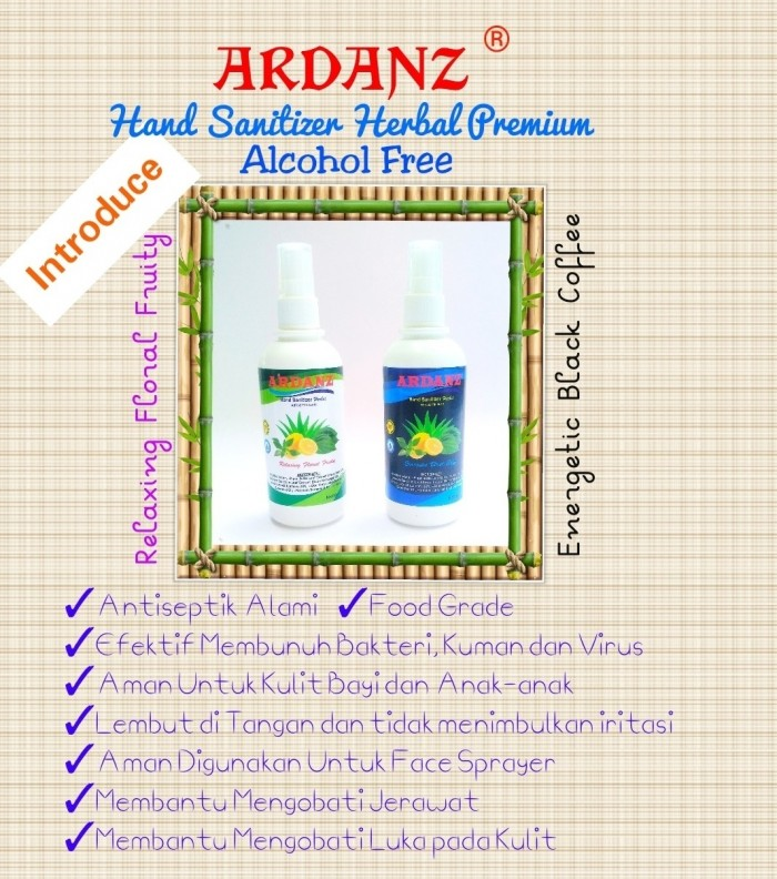 Digital Marketing Solution Ardanz Hand Sanitizer Herbal 100 ml Spray ~ Relaxing Floral Fruity