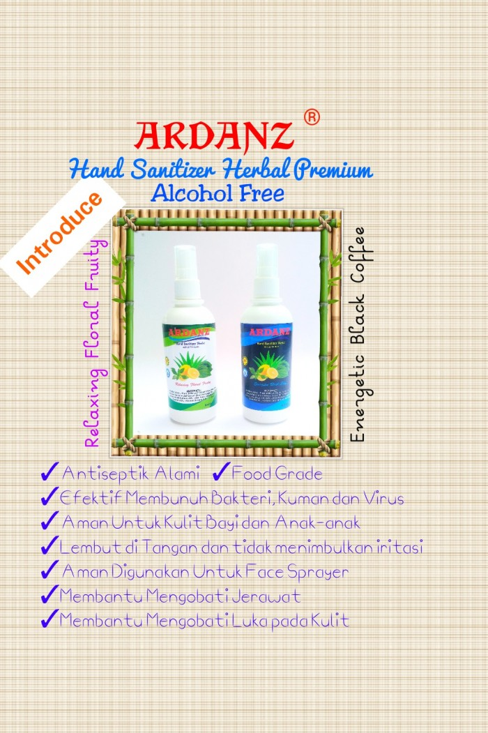 Digital Marketing Solution Ardanz Hand Sanitizer Herbal 6 ml Pen Spray ~ Relaxing Floral Fruity